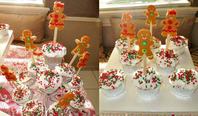 Christmas Gender Reveal Christmas Gender Reveal Cupcakes