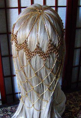 Game of Thrones Chainmail Headdress Gold Steampunk Cosplay Bridal Wedding SCA | eBay