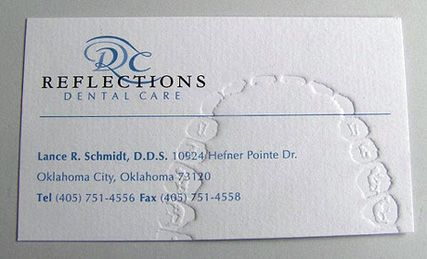 Chomp effective use of embossing for dentist business cards effective use of embossing for dentist business cards colourmoves