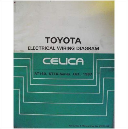 Toyota Celica Electrical Wiring Diagram Manual 1987