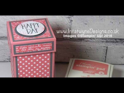 Exploding Candle Box using Perfectly Wrapped Stamp Set