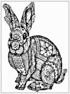 Printable Rabbit Coloring Pages For Adult coloring pages