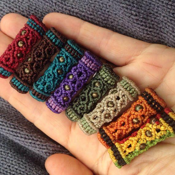 6d537cdf54d4 Dreadlock macrame accessories Hippie Dread Beads Dreadloc ...