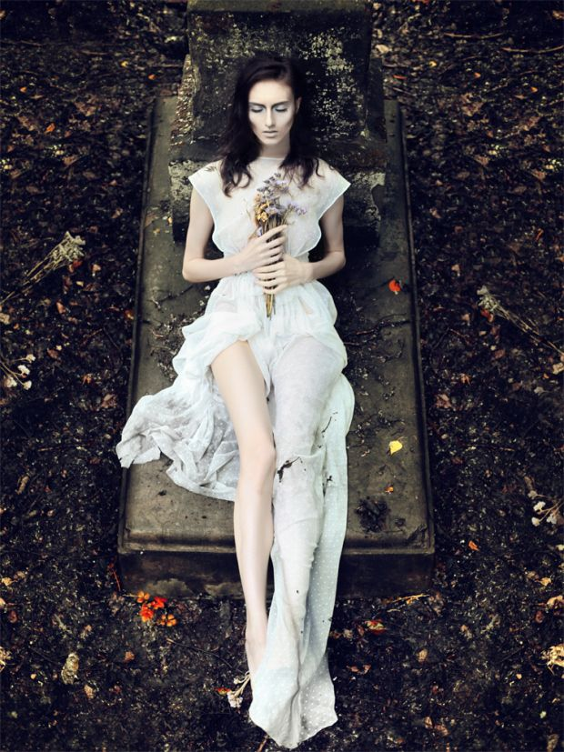 If done right, I would love to recreate something like this. I don't want the graveyard to just be decoration in the photoshoot, but seen as something more profound.
