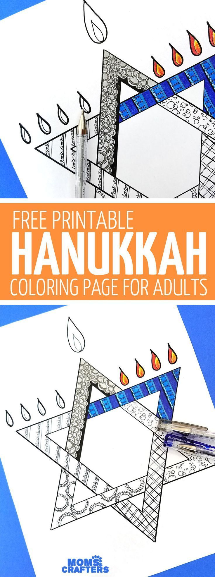 This free printable Hanukkah coloring page for adults is a great Hanukkah activi This free printable Hanukkah coloring page for adults is a great Hanukkah activi