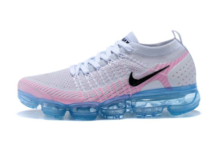 new products ab3f7 e038f Nike Air Vapormax Flyknit 2 White Pink Fire Glacier Blue