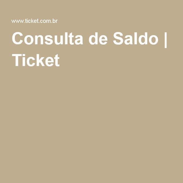 Consulta de Saldo | Ticket