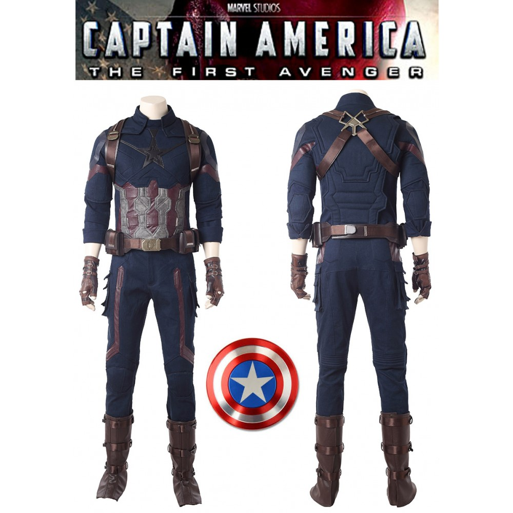 A005 Marvel Comics Avengers Infinity War Captain America Steve Rogers Cosplay Costumes Avengers Infinity War Marvel Avengers Comics Avengers
