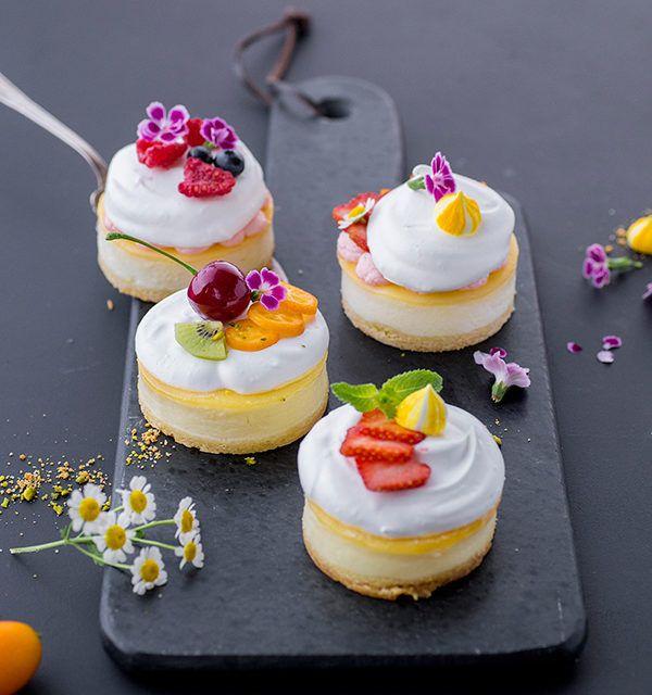 Ingeniosamente simple: ¡mini pasteles de queso!