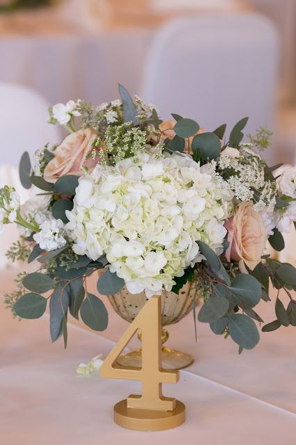 Fleurs de france floral dallas florist blush white with greenery in gold mercury footed compote centerpiece also best th birthday ideas images rh pinterest
