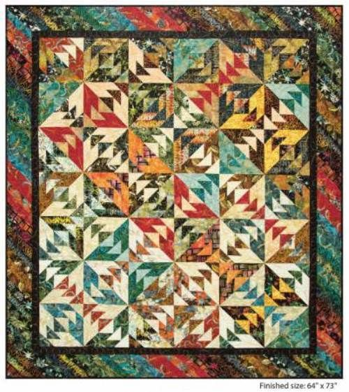 """1 yd of /""""Firestorm/"""" by Judy and Judel Niemeyer for Timeless Treasures"""