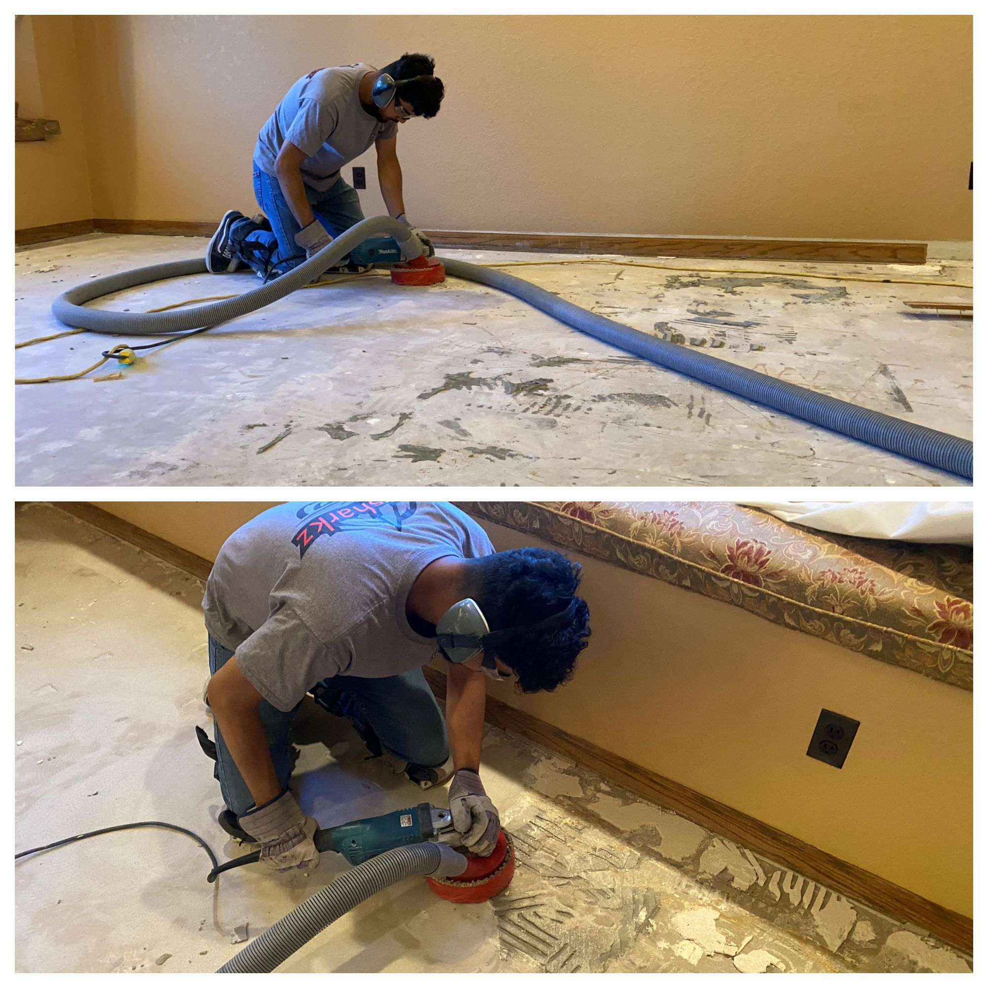 Check out these cool shots of our dust free tile removal