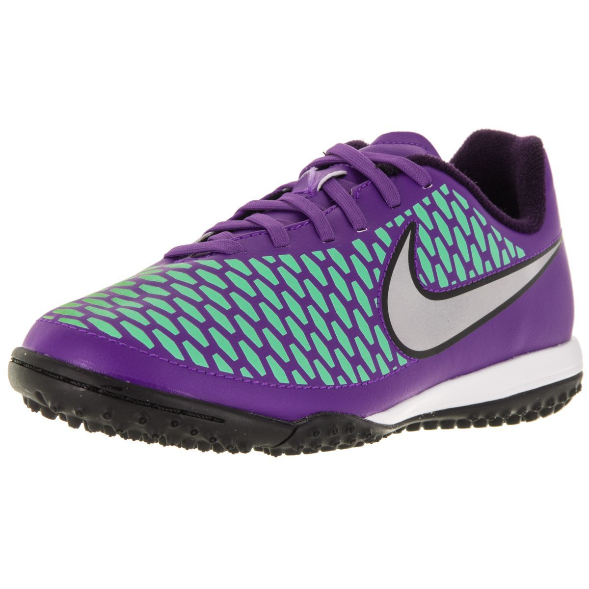 Nike Kid's Jr Magista Onda Tf /Metallic Silver/Purple Turf Soccer ...