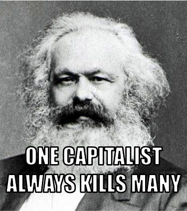 Karl marx quote one capitalist always kills many marx karl politics fandeluxe Image collections