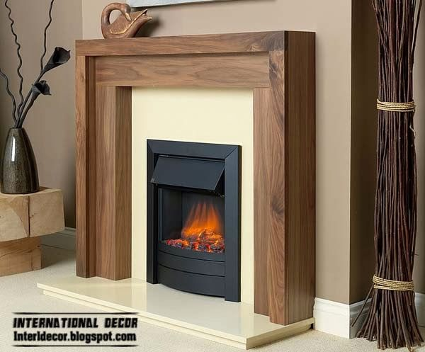electric fire, Recessed electric fireplace
