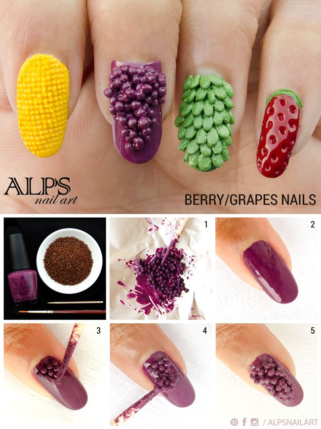 Fruit nails tutorial grapes berry fruit nails by alpsnailart fruit nails tutorial grapes berry fruit nails by alps nail art prinsesfo Images