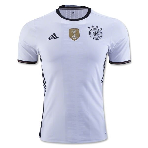 Adidas Men S Germany 15 16 Authentic Home Jersey White Black Soccer Shirts Shirt Sale Soccer Jersey