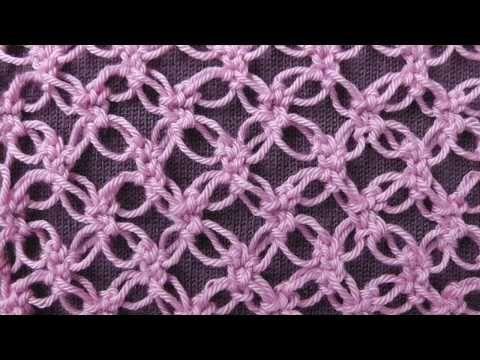 соломоновы петли или соломонов узел ажурный узор крючком для шалей