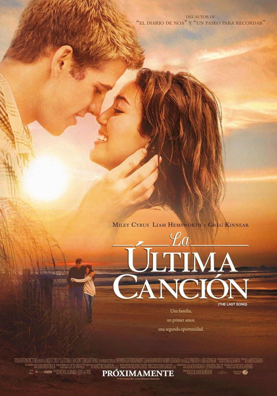 La última Canción Película Completa En Español The Last Song Movie The Last Song Film Sparks Movies
