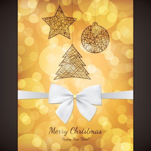 Vintage 2014 christmas background design vector 01 Christmas