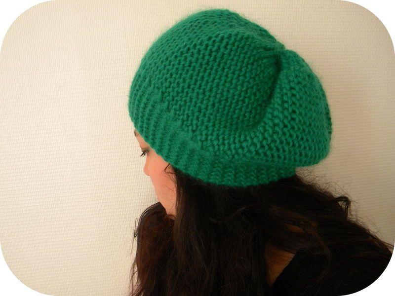 tricoter un bonnet point mousse