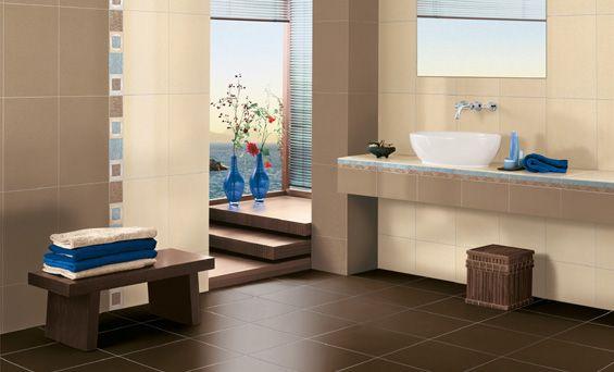 Braun Beige Badezimmer Badezimmer - Tomis Media - Tomis Media - badezimmer braun wei modern