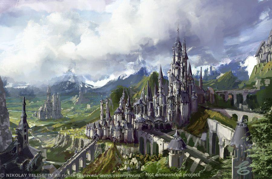 landscapes castles fantasy art - photo #42
