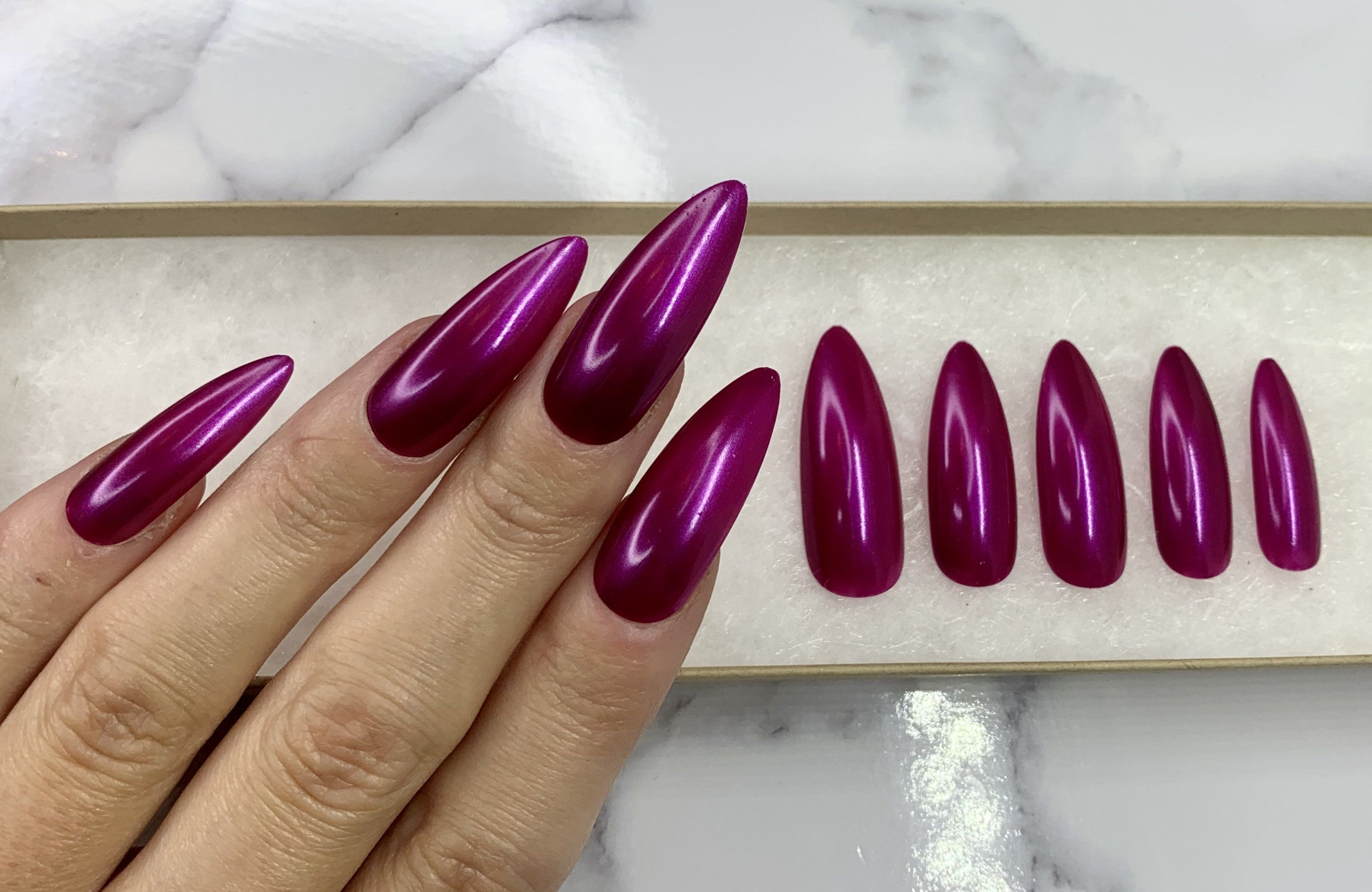 New Nail Trend Extra Long Nails The Glossychic Long Nails Acrylic Nails Stiletto Long Acrylic Nails