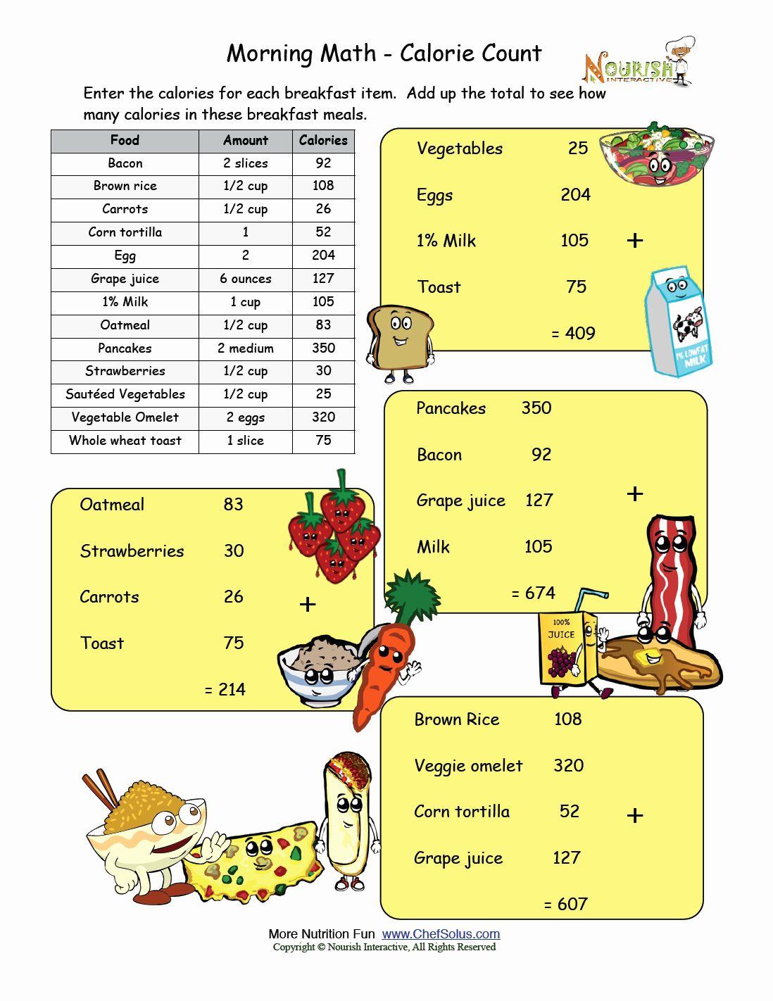 50 Nutrition Label Worksheet Answer Key In