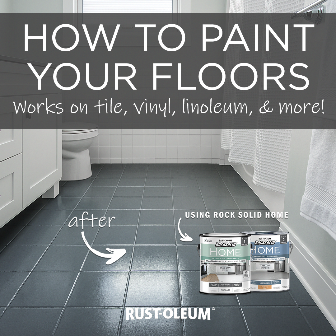 Painting Vinyl Floors Ricochet And Away I Painted: Transform The Look Of Your Bathroom In A Day By Painting