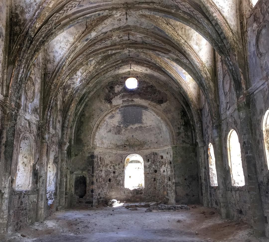 The Remains Of An Orthodox Church In #Kayakoy Ghost Town