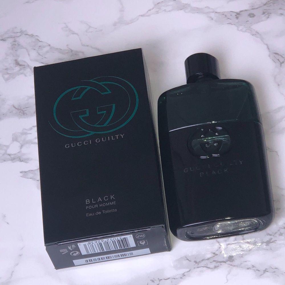 69.95 Gucci Guilty Black Pour Homme Eau de Toilette 3 fl. oz. New NIB  Large  Gucci a9175b1cbaa1