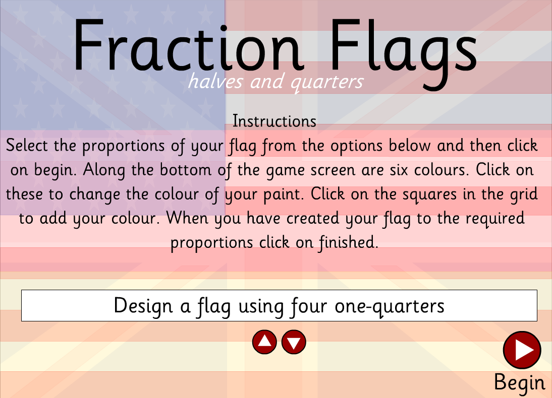 Fun And Free Computer Games Fraction Flags