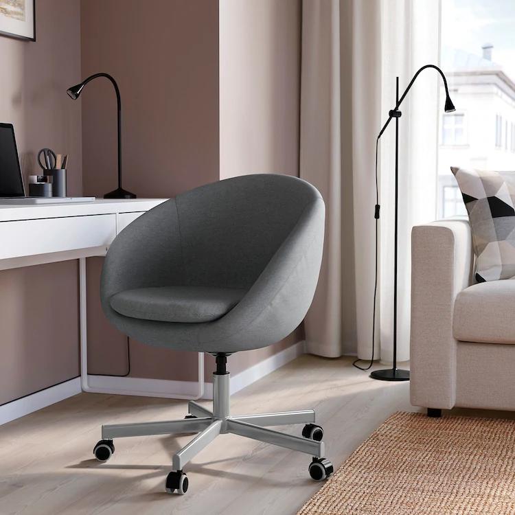 LOBERGET / BLYSKÄR Swivel chair, white IKEA in 2020