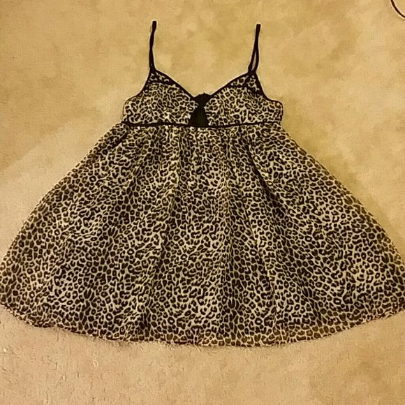 Spaghetti Strap Leopard Print Dress