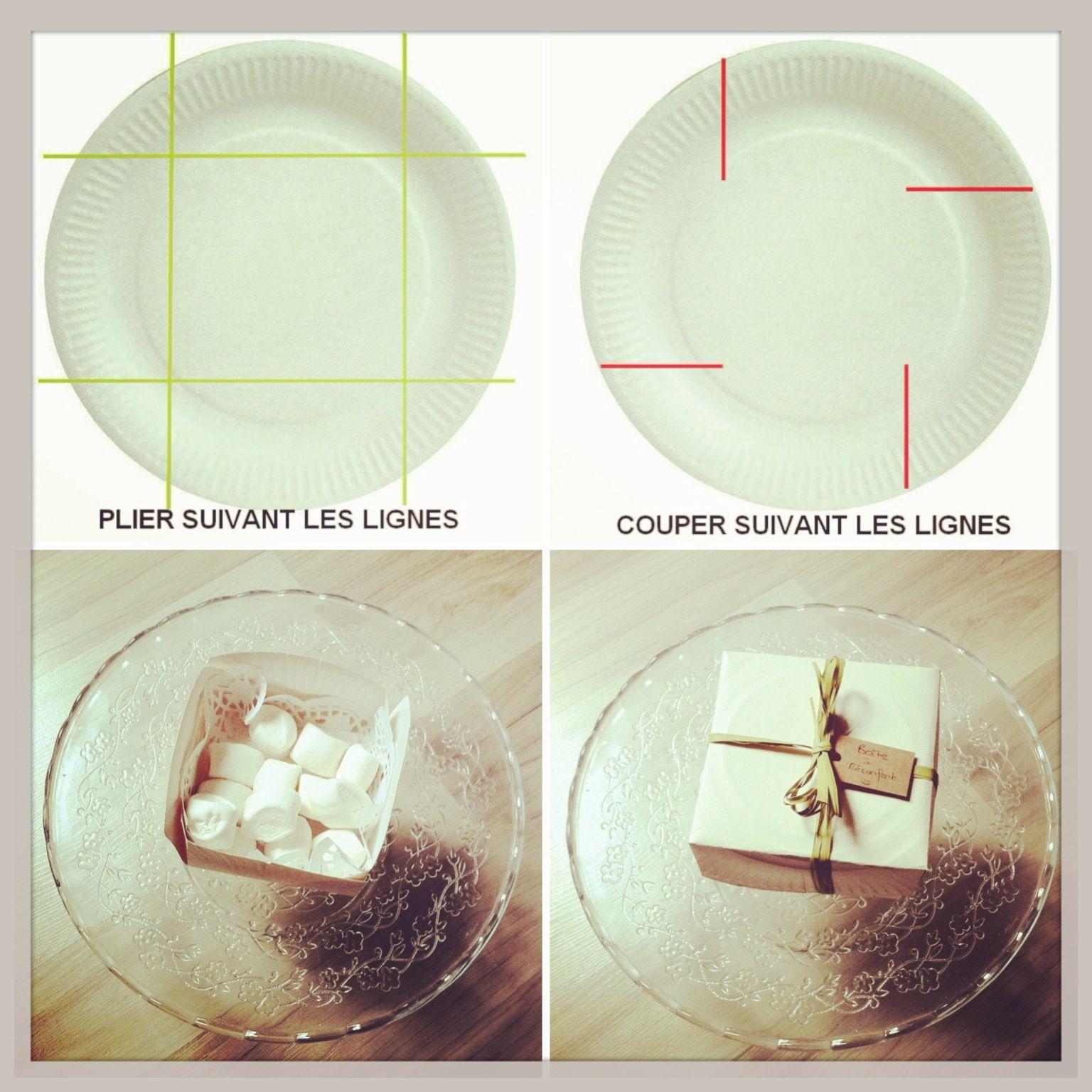 faire une bo te bonbon avec une assiette en carton. Black Bedroom Furniture Sets. Home Design Ideas