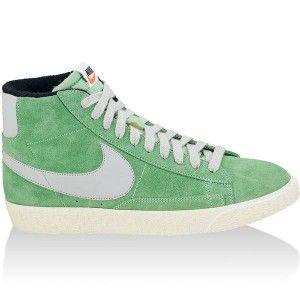 original Chaussures Nike Blazer Mid Premium Vintage Femme vert blanc vente  pas cher online