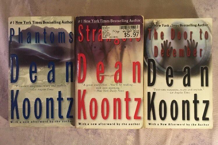 Dean Koontz Book Lot Paperback 3 Phantoms Door To December Strangers Dean Koontz Books Dean Koontz Books