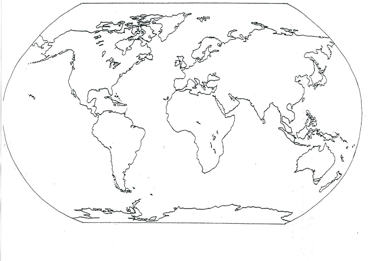 7 Continents World Map In