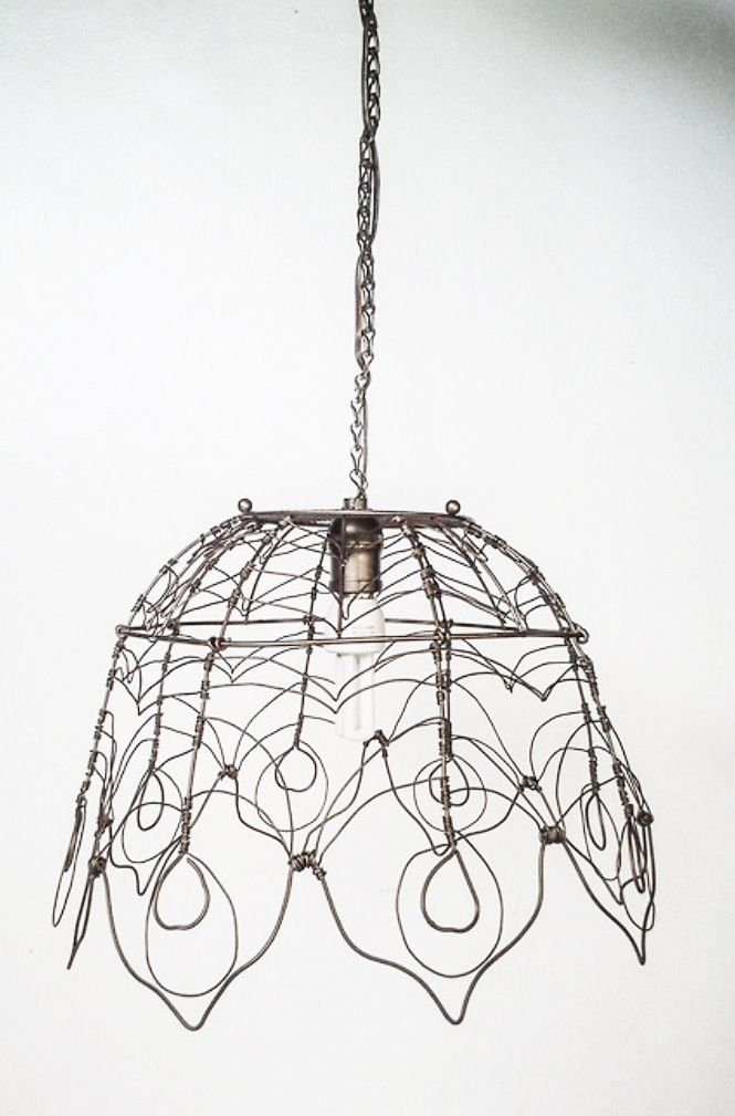 Wire lampshade diy pinterest wire lampshade wire art and lights wire lampshade greentooth Gallery