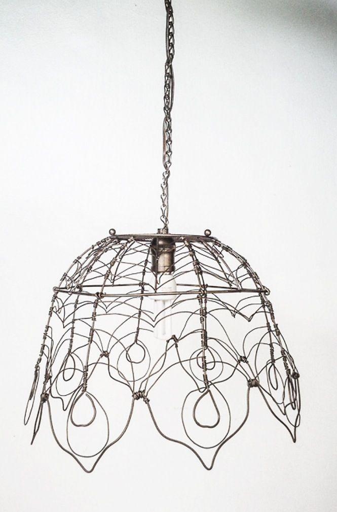 Wire lampshade dettagli diferro pinterest wire lampshade wire lampshade greentooth Image collections