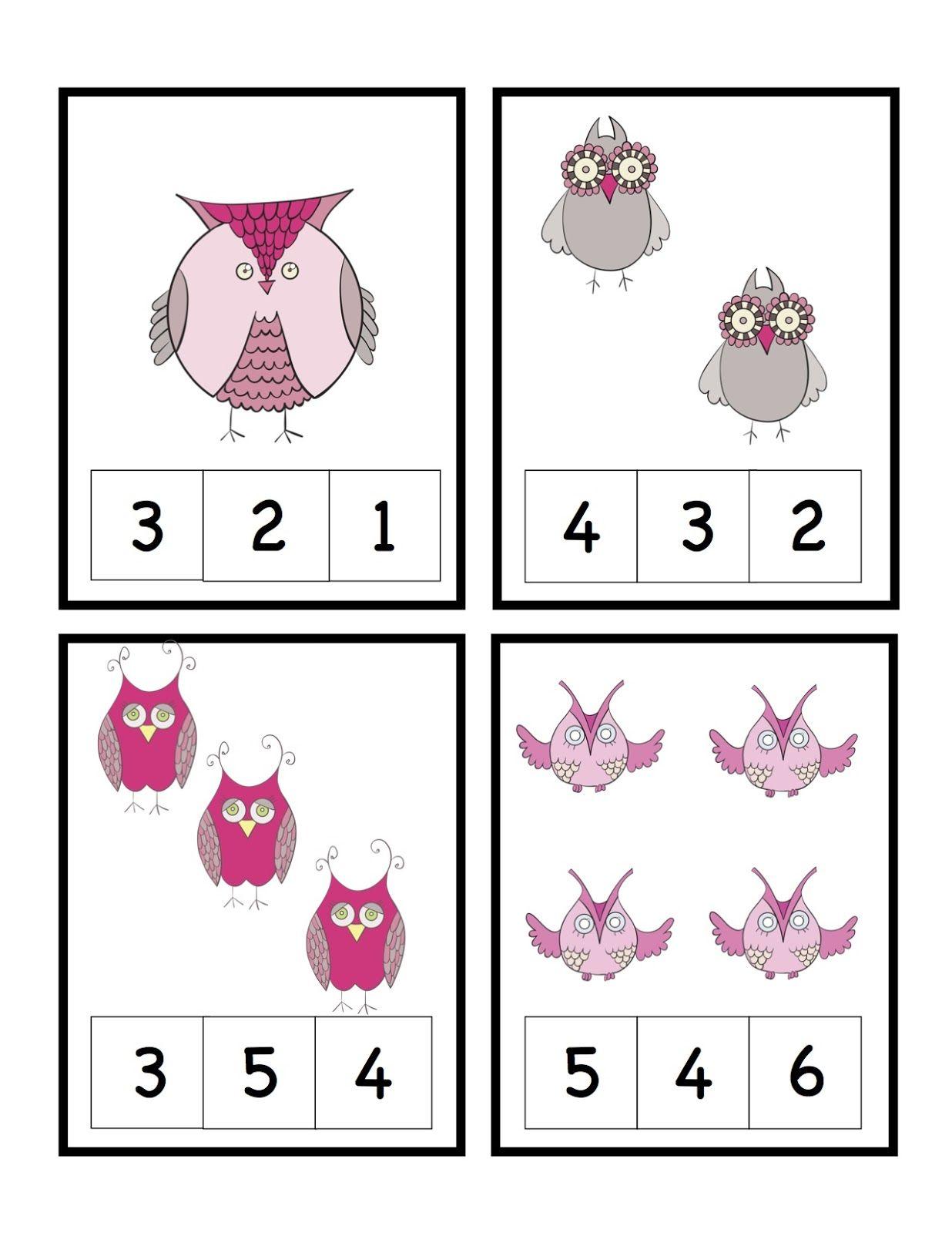 Owl Num Cards 1 4 1 236 1 600 Pixels