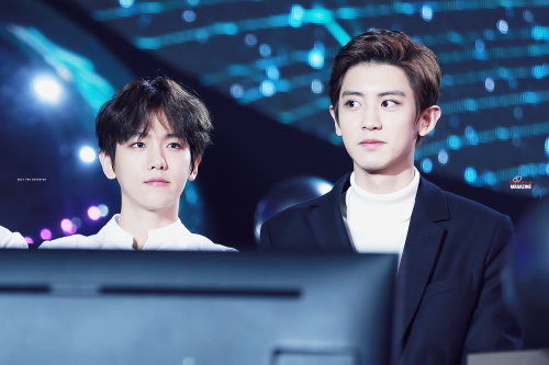 Baekhyun, Chanyeol - 151227 2015 SBS Gayo Daejun Credit: All Night. (2015 SBS 가요대전)
