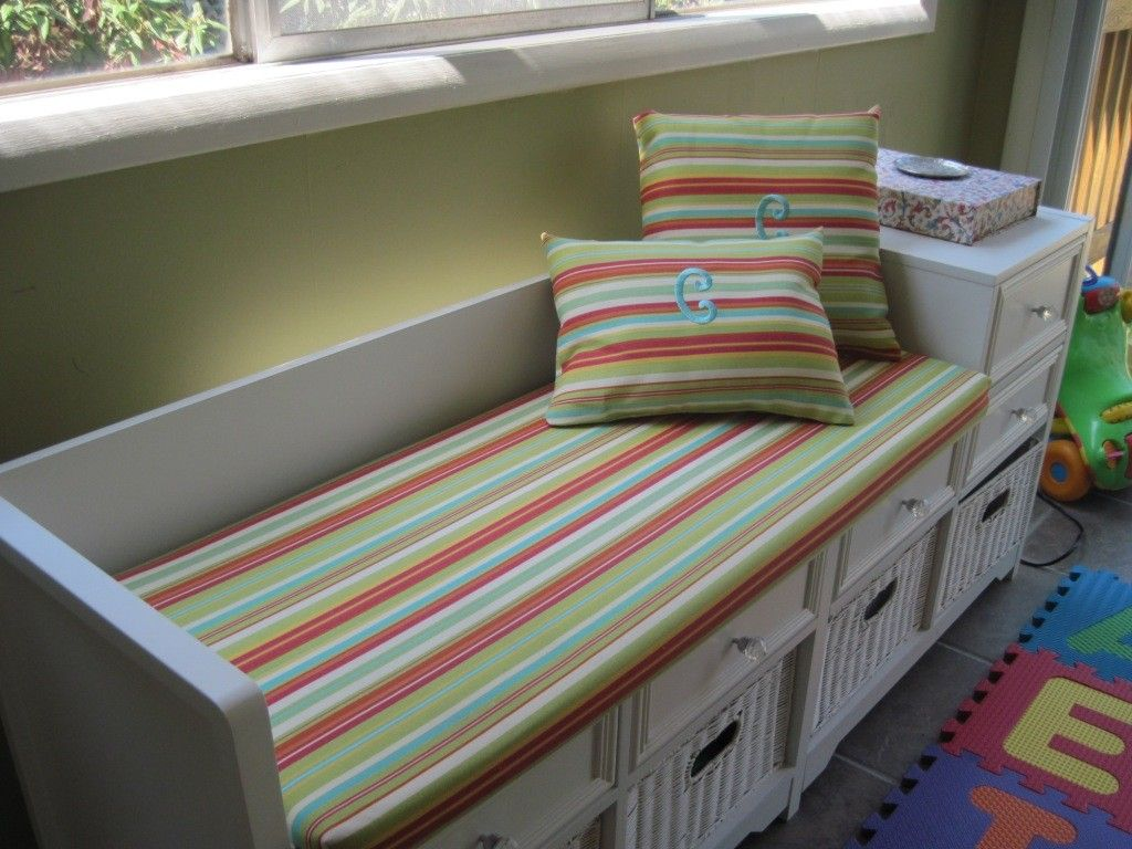 Custom Made Bench Cushion And Pillows Indoor Or Outdoor 85 00 Via Etsy