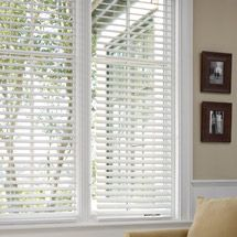 """Better Homes /& Gardens 2/"""" Faux Wood Cordless Blinds White"""