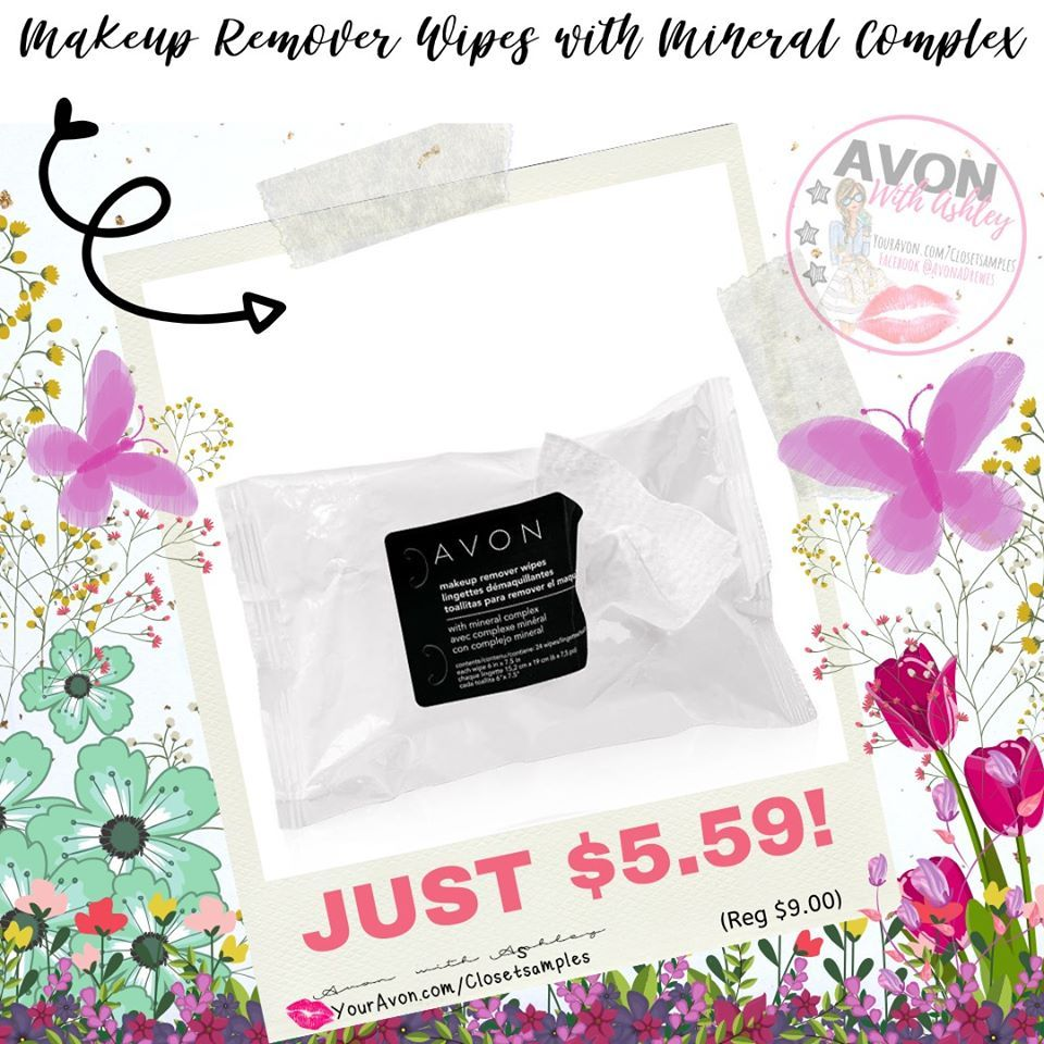 5.59 (reg 9) Makeup Remover Wipes with Mineral Complex