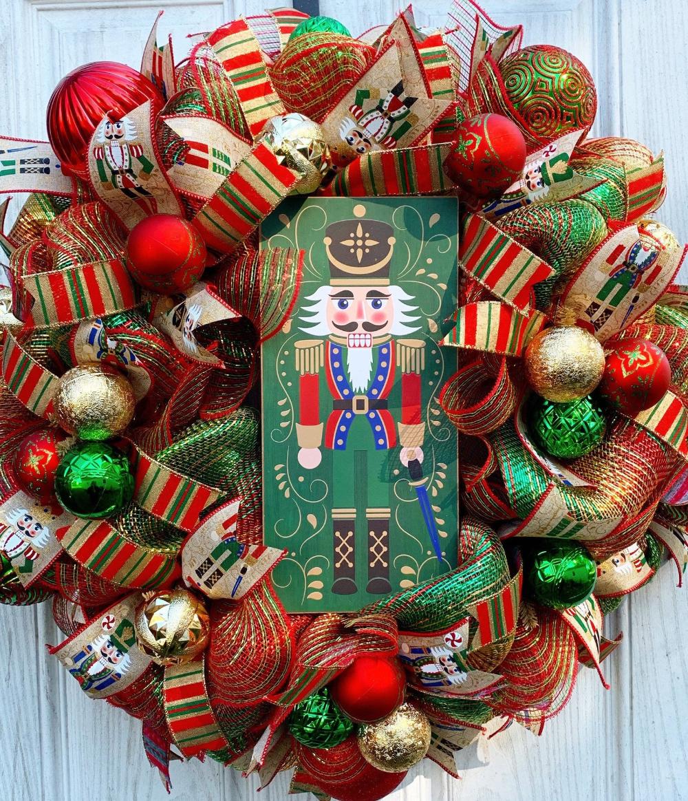 Nutcracker Wreath Deco Mesh Nutcracker Wreath Christmas | Etsy