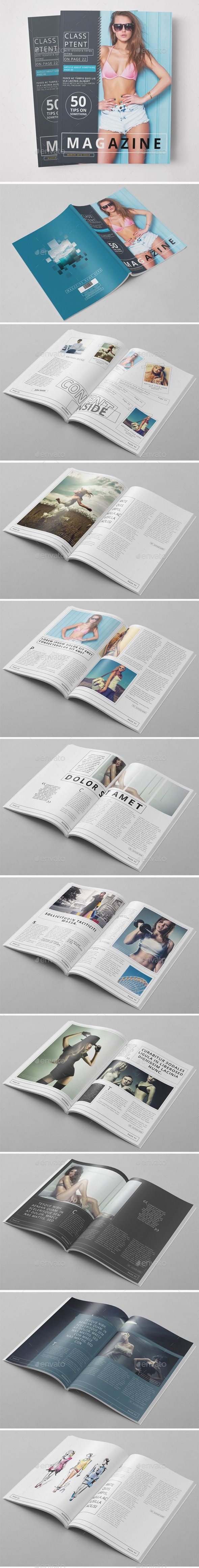 Fashion Magazine 02 by pmvch 20 Pages Fashion Magazine Template 20 Pages Magazine with Minimal & Professional Design. Fully layered PSD files and very easy to