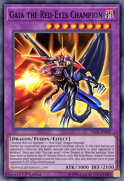 Gaia The Red Eyes Champion By Batmed Custom Yugioh Cards Yugioh Cards Red Eyes