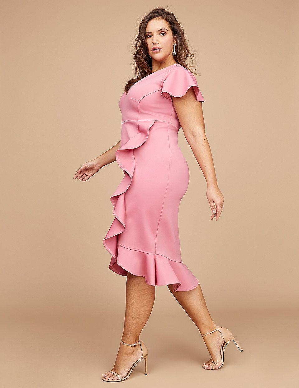 e0849e4d891 Fluted Ruffle Sheath Dress